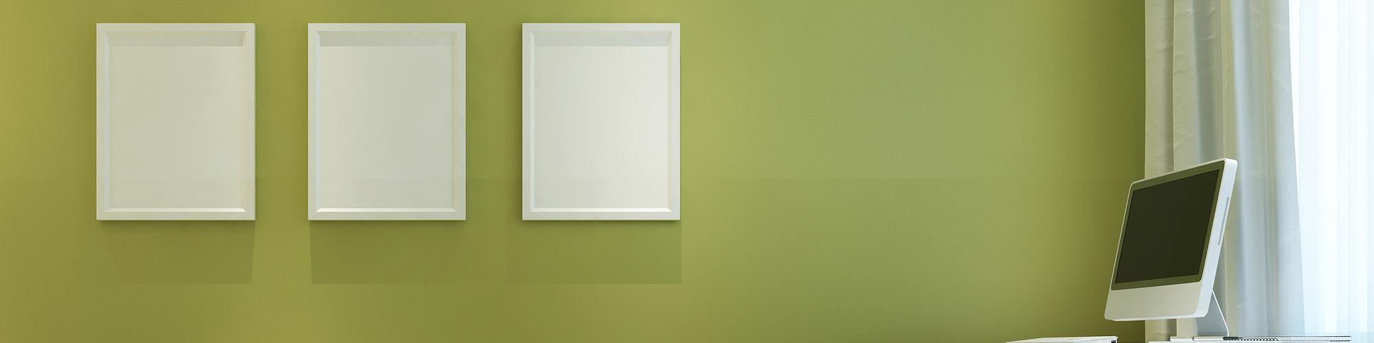 groen muur verven
